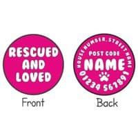 Personalised Dog ID Tag - Rescued and Loved